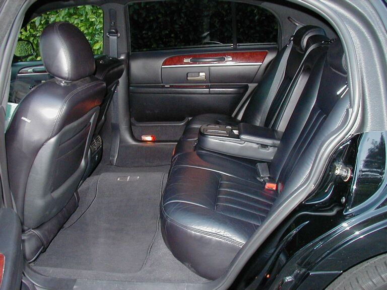 Interior Of A Town Car, Shuttle Services To Port Canaveral
